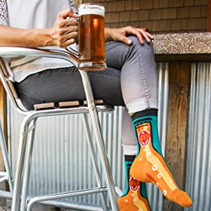 womens novelty funny fun socks booze alcohol beer craft