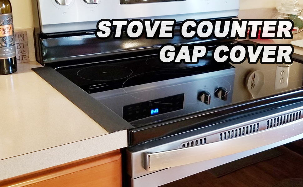 Amazon Com Kitchen Silicone Stove Counter Gap Cover 25 Inch Long Extra Wide Stove Gap Filler Range Strips 2pcs Between Oven And Countertop Dishwasher Dryer Easy Clean Heat Resistant Gap Guards White