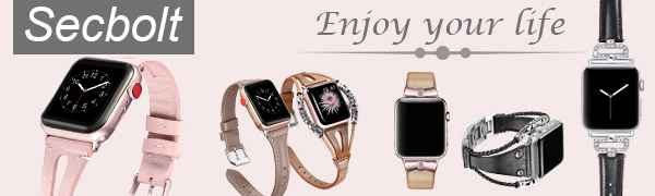 slim leather bands for apple watch 38mm 40mm women
