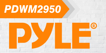 compact UHF wireless microphone system pyle logo