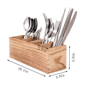 Kitchen Cutlery Trays with 4 Adjustable Smart Compartments