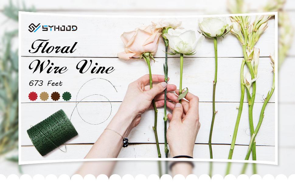 Floral wire vine