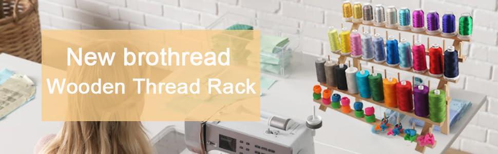 New brothread wooden thread rack banner