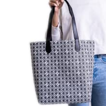 black and white bag for women, shopper for women