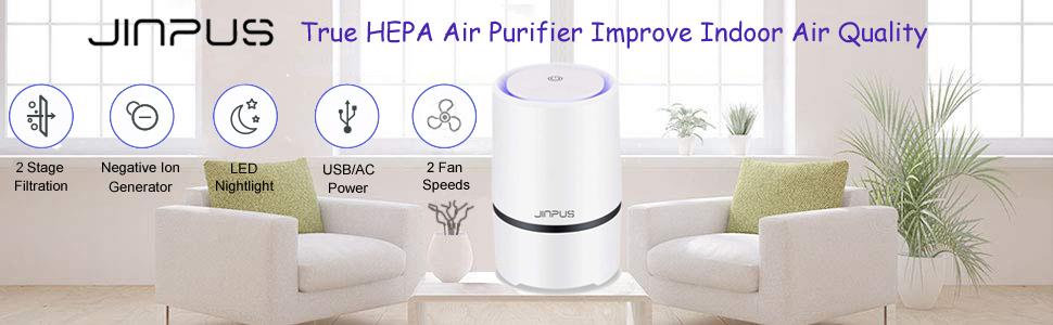 JINPUS True HEPA air purifier improve indoor air quality