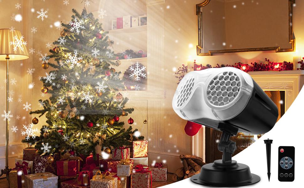 Коледни светлини за проектор
