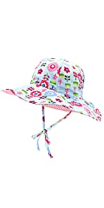 Baby Kids Double Sides Sun Hat Adjustable Size