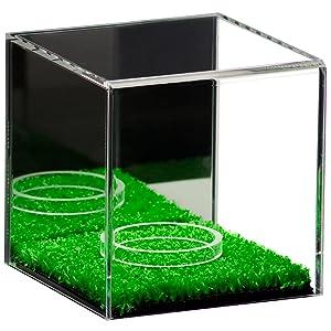 Collectible Signed Baseball Sport Memorabilia Turf Floor Clear Acrylic Display Case Showcase