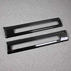 RQING for Volvo XC90 2016 2017 2018 2019 2020 2021 Inside Door Sill Plate Cover Trims (Black)