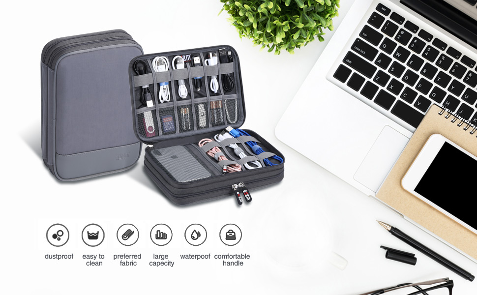 Double Layers Electronic Digital Accessories Bag