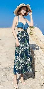 Green Beach Skirt