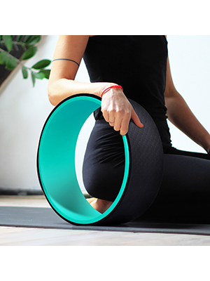 "Aokitec Yoga Wheel 13"" Back Wheel Durable Dharma Wheel for Yoga Poses & Spine Stretching ABS Yoga Roller Wheel for Back Pain"