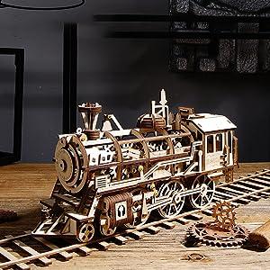 ROKR 3D WOODEN Puzzle Train Locomotive