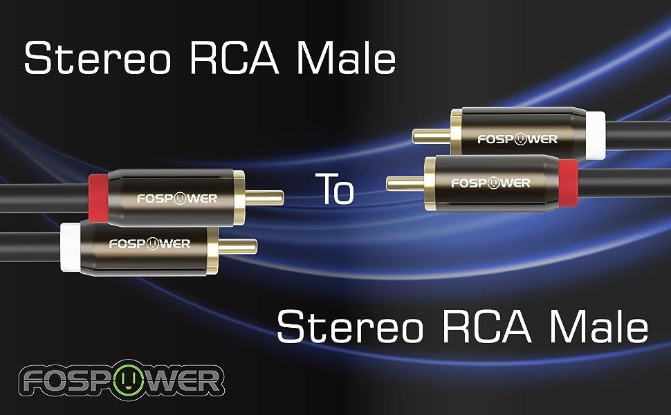 RCA estéreo macho a macho