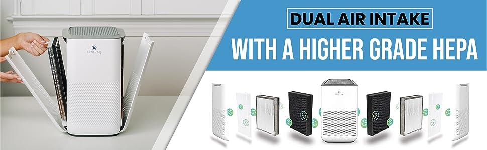dual filter purifier, air purifier 2 filters, maeify air ma 15