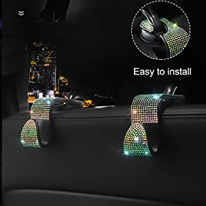 bling car headrest hanger