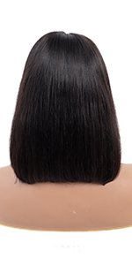 short lace front wigs human hair  straight bob human hair lace front wig bob straight lace front wig