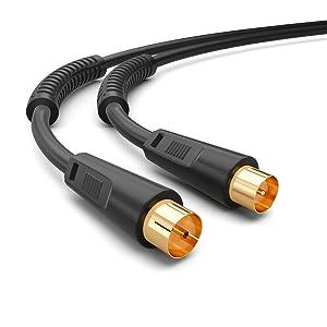 Hb Digital 3m Antennenkabel Tv Anschlusskabel Uhd 8k 4k Elektronik