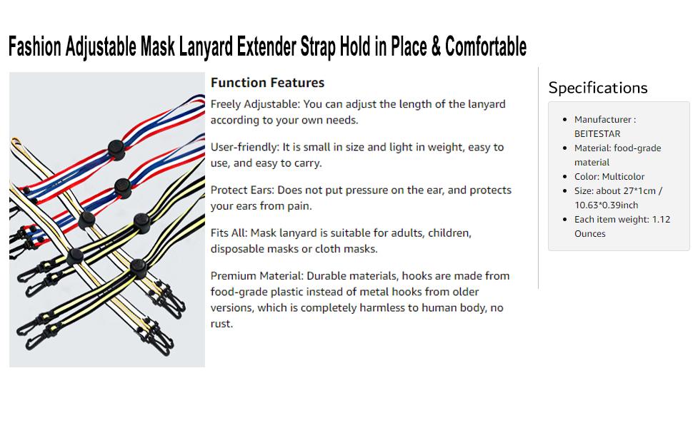 Kids mask lanyard mask chain mask holder mask hook mask strap mask strap mask ear saver mask lanyard