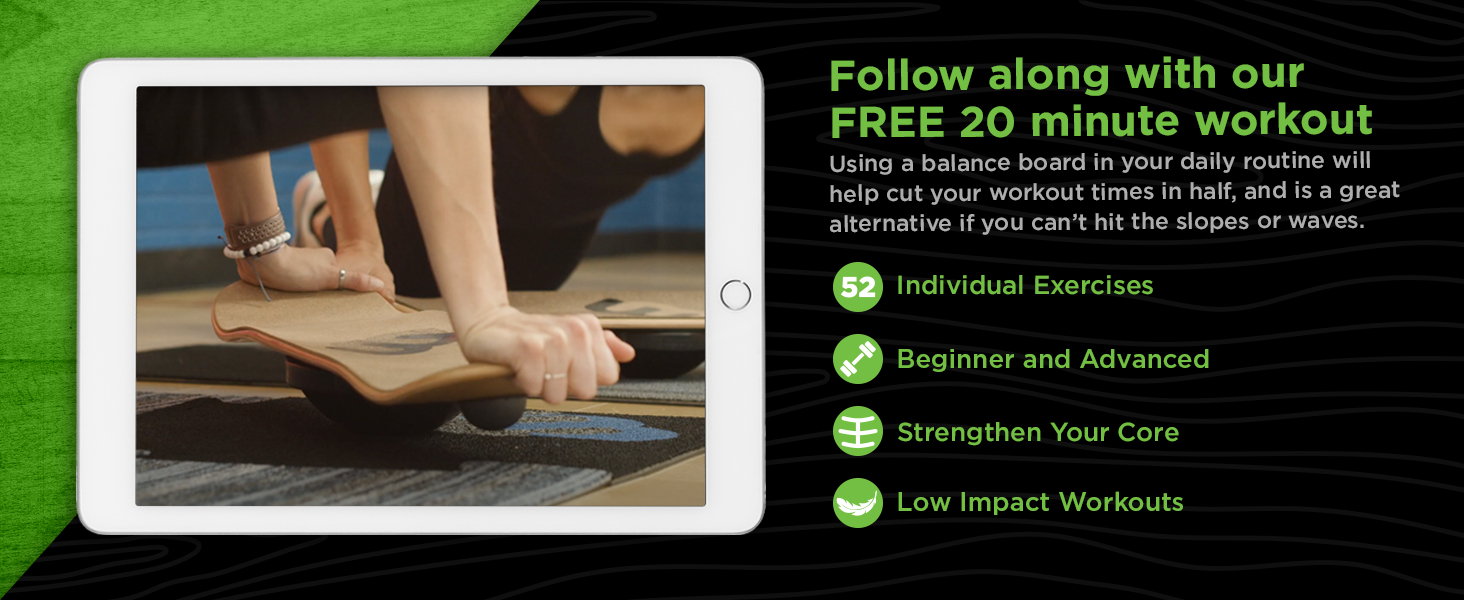 Balance board for fitness and core workouts