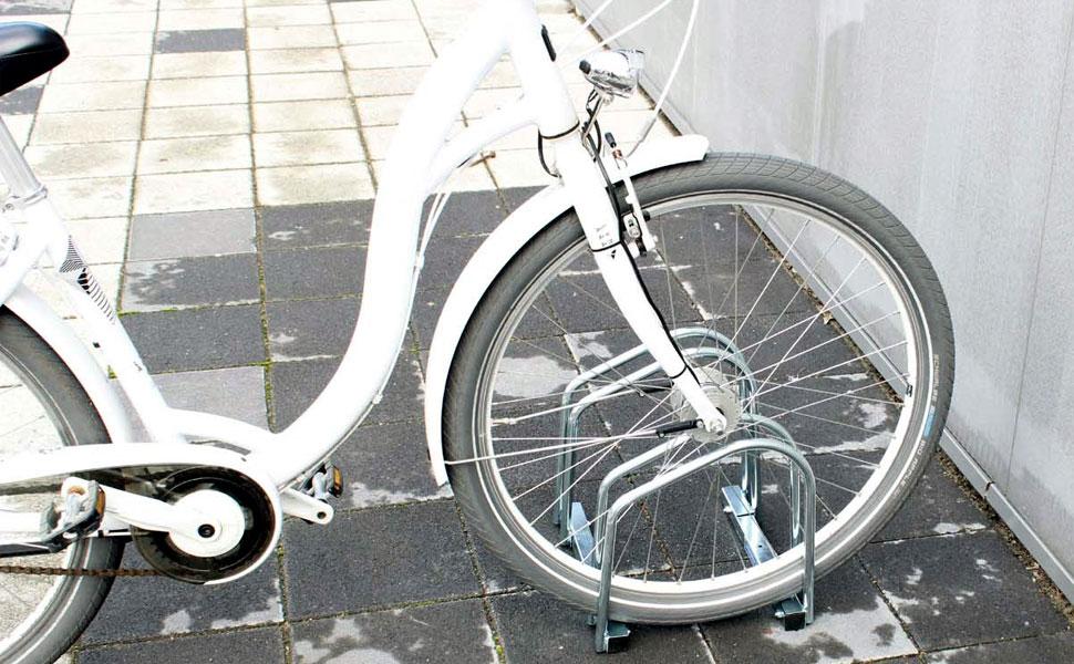 Fahrradständer für 2 Fahrräder Räder Fahrrad Ständer Rad Aufstellständer Bike