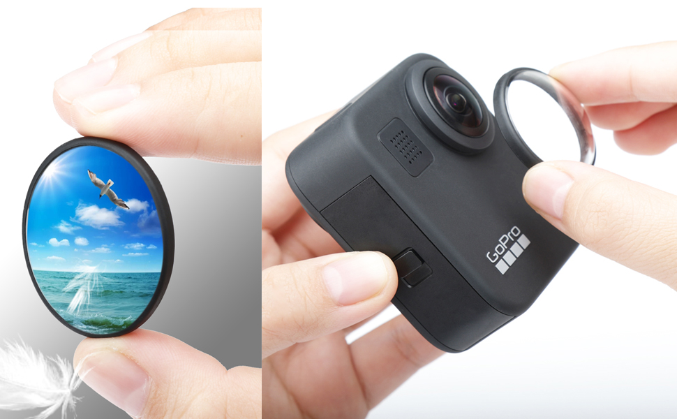Lens cover for gopro max
