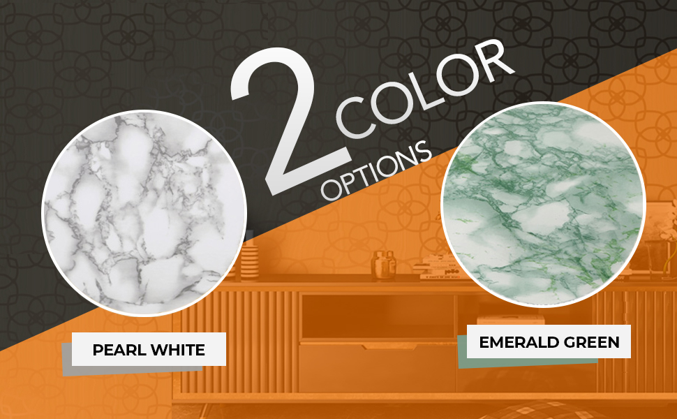 Marble self adhesive wall stickers wallpaper for wall, living room latest, color white and green