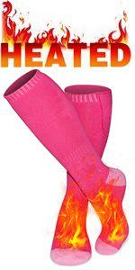 electric battery socks rechargeable heated socks for men women cold weather winter heated socks