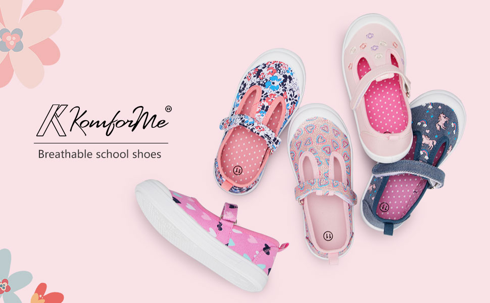 Breathable school shoes