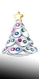 EMOSTAR Festive Christmas Tree Charms fits Pandora Charm Xmas Bracelet