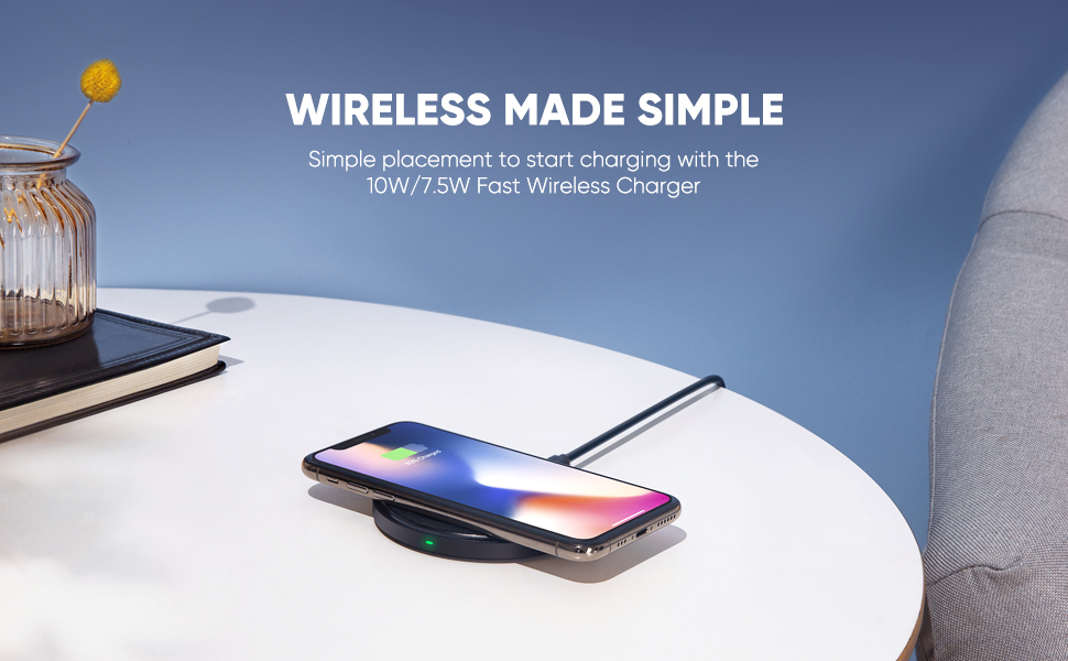 UGREEN Fast Wireless Charger, 7.5W Quick Wireless Charging Pad Compatible for iPhone