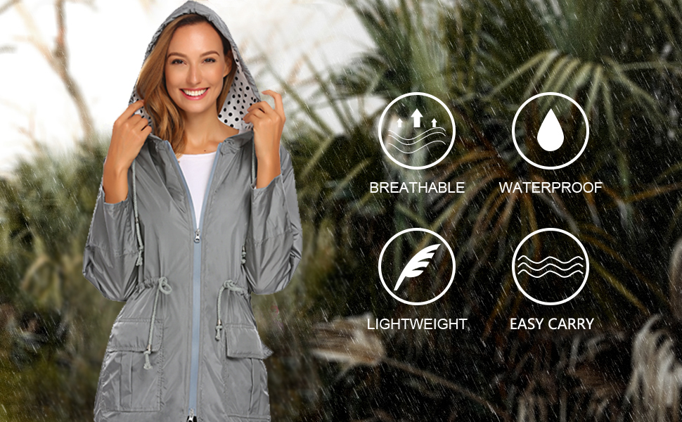 lightweight travel rain coat