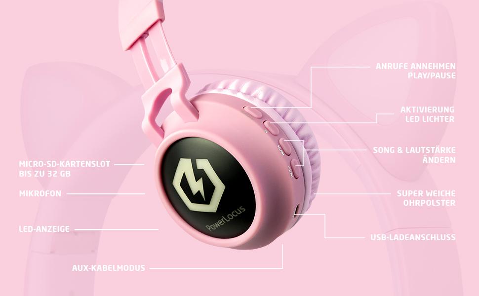 drahtlose kopfhörer für kinder kinder kopfhörer über ohr 85db begrenzter micro sd bluetooth