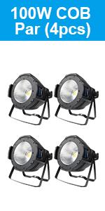 Betopper COB Par Light 100W Warm/Cold White Stage Light DMX Professional Party Light Staobe Light