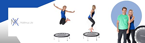 maximus pro rebounder mini trampoline fit bounce pro indoor home workouts exercise fitness dvds