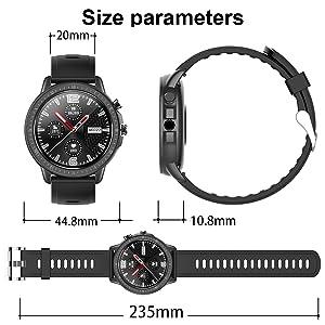 womens fitness tracker bluetooth smart watch for women blood oxygen monitor activity tracker