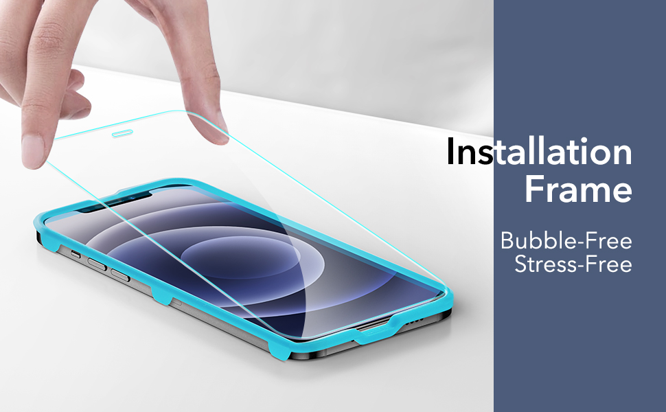 ESR Tempered-Glass Screen Protector for iPhone 12 Mini [3-Pack] [Easy Installation Frame]