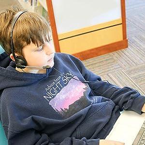 headphone headset earbud classroom class school library language lab education set pack 10 earbud