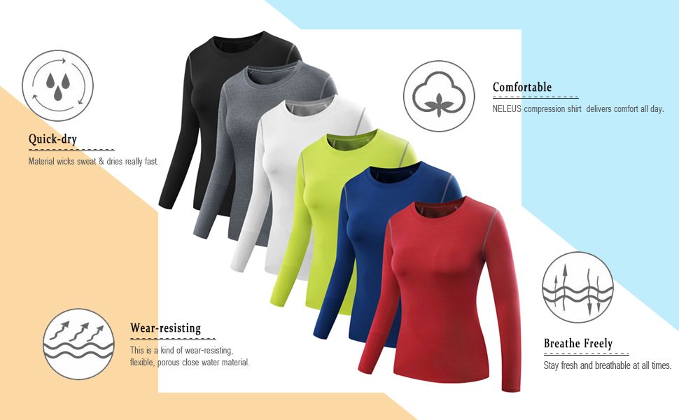 womens compression shirts