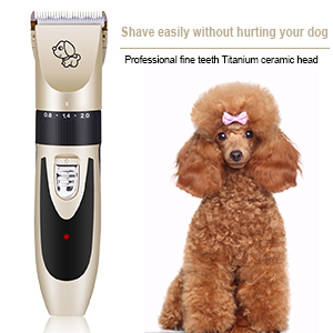 Dog Clippers, Pet Grooming Kit, Cat Hair Electric Shaver, Low Noise Electric Pet Grooming Clippers