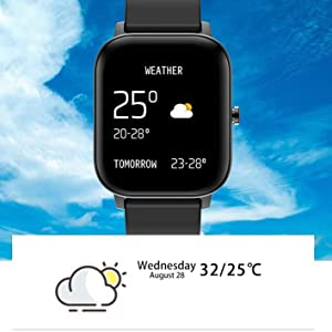 smart watch weather forcast