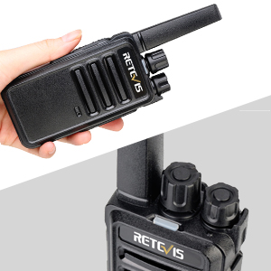 Palm size walkie talkies, easy to hold
