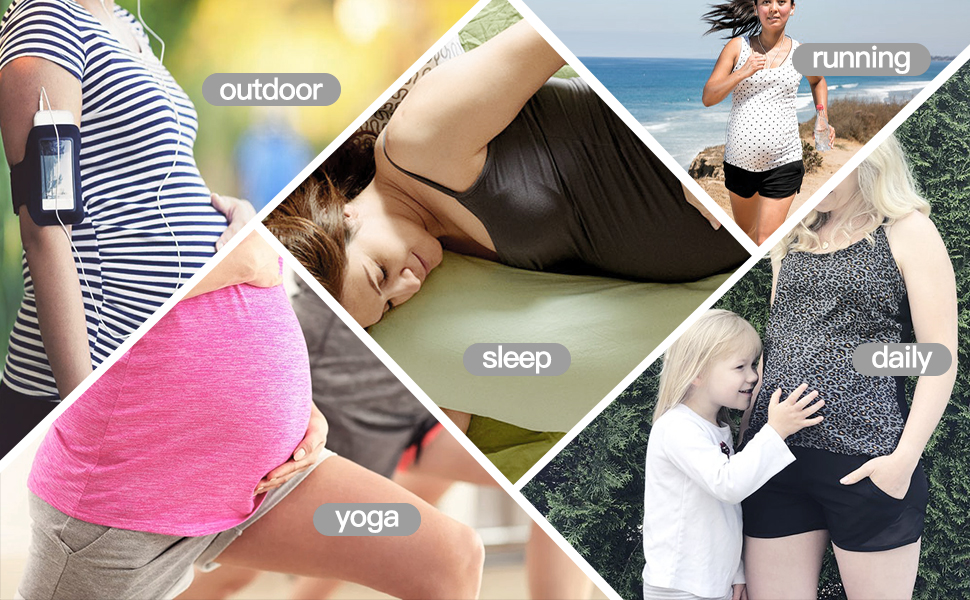 maternity casual outdoor exercise gym sleep shorts