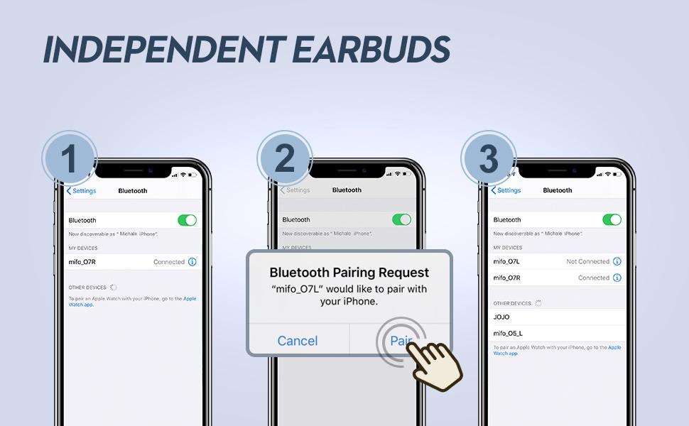 mifo 07 wireless earbuds for sports wireless headphones ear buds earphones for sport with mic