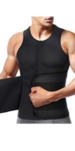 DamHerren Bauchweggürtel Fitnessgürtel Schwitzgürtelen Bekleidung