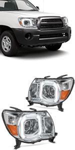 OEDRO Headlight Assembly Fits 2005-2011 Toyota Tacoma Pickup Truck