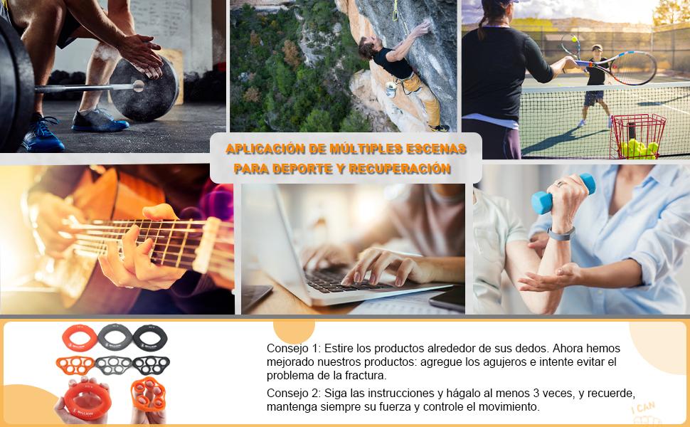 5BILLION Fortalecedor de Mano & Estiramiento de Dedo - Entrenador de Fuerza para Ejercicio de Antebrazo, Fortalezas de Dedo de Guitarra y Escalada de ...