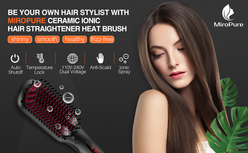 cameramic ionic hair straightener brush