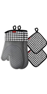 heat resistant pot holders and oven mitts