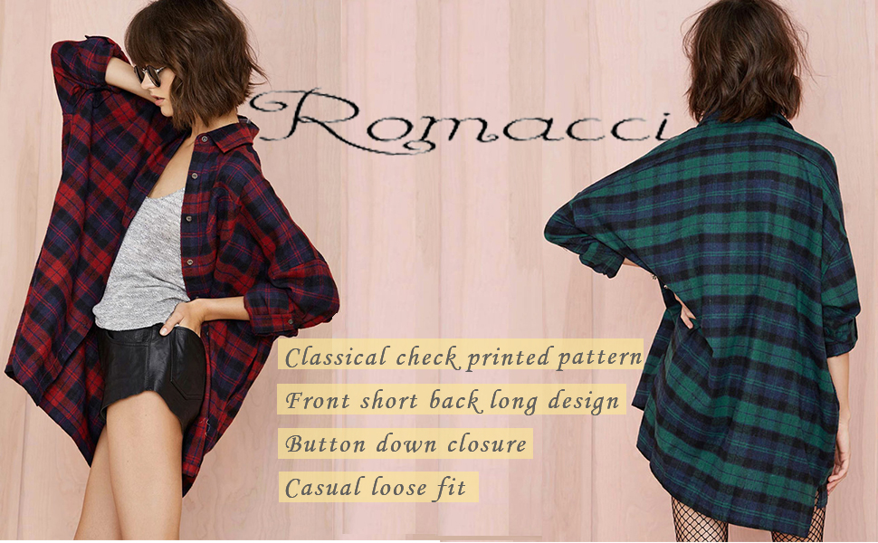 romacci plaid shirt